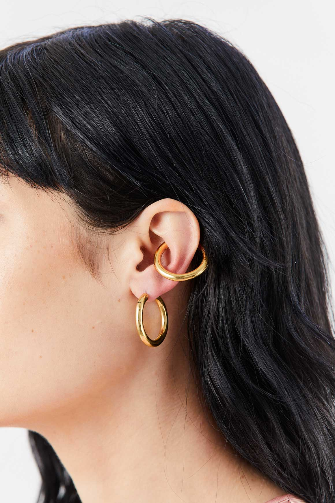 ALAN CROCETTI - Loophole Earring Set, Gold