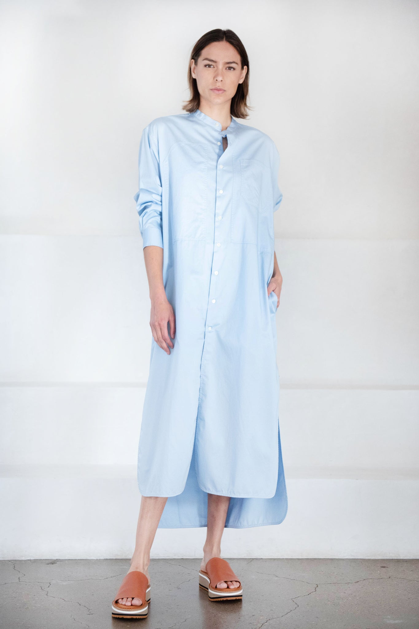 Hope - angle shirtdress, blue