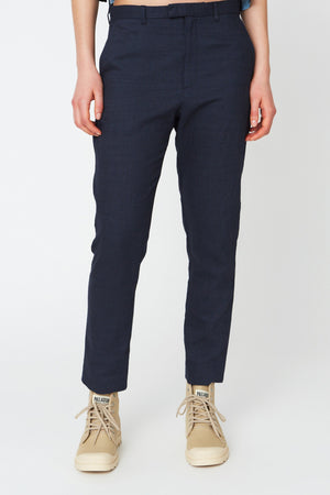 krissy edit trouser, navy stripe