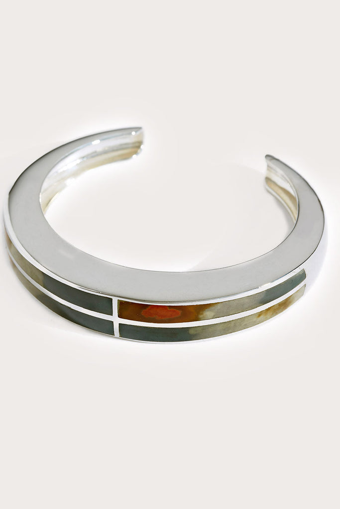 Inlay cross cuff,  silver by PAMELA LOVE @ Kick Pleat - 2