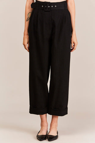 Belted Trousers, Black