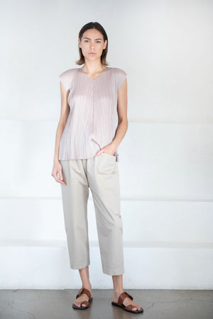Pleats Please by Issey Miyake - monthly colors top, smokey brown