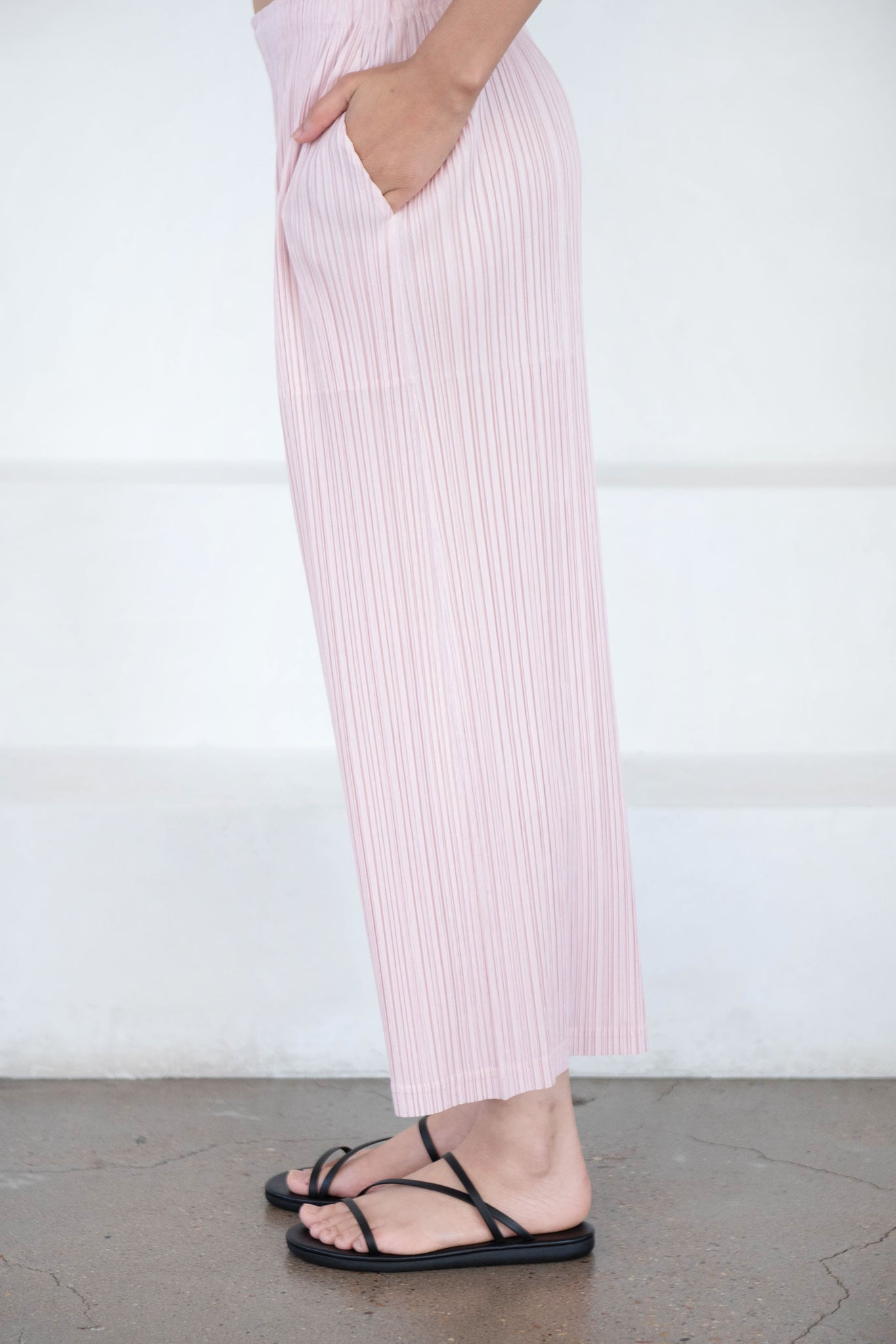 Pleats Please by Issey Miyake - thicker bottoms 2, light pink