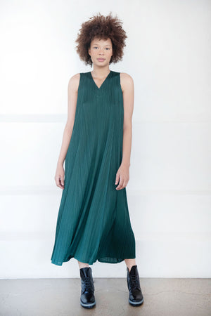 Pleats Please by Issey Miyake - monthly colors dress, green
