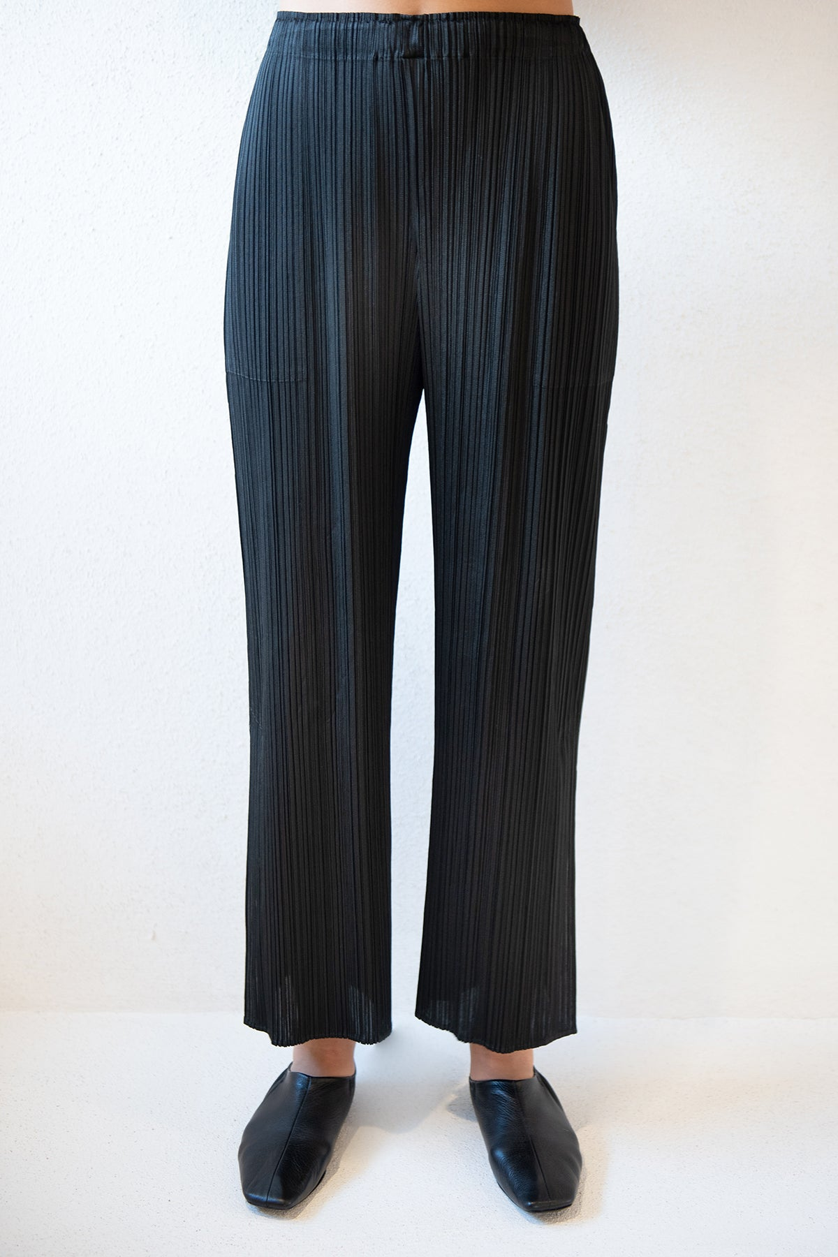 Pleats Please by Issey Miyake - monthly colors pant, black