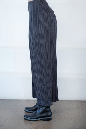 Pleats Please by Issey Miyake - ramie pants, charcoal