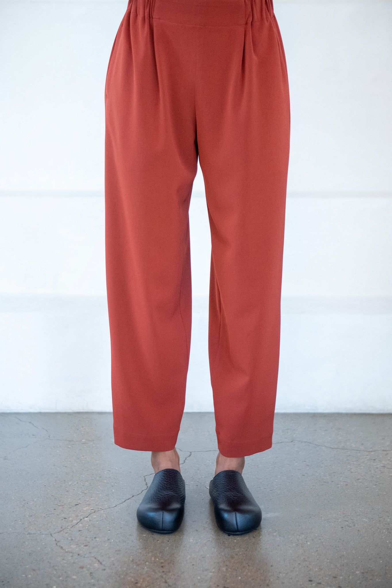 Issey Miyake - twisted cut pants, brown