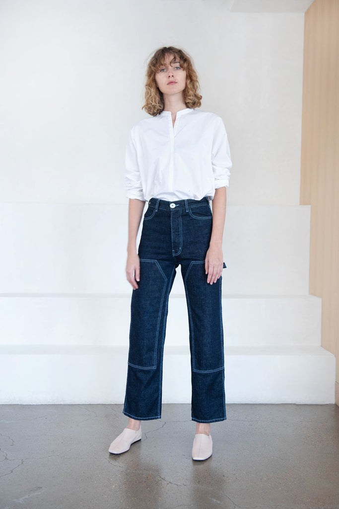 Jesse Kamm - patchfront handy pant, denim
