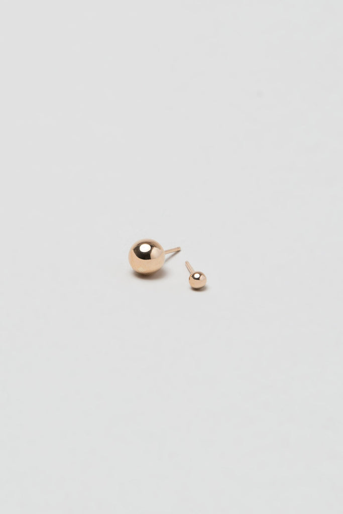 Asymmetric Orbit Earrings, 14K Rose Gold