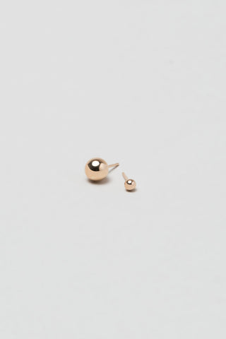 Asymmetric Orbit Earrings, Rose Gold