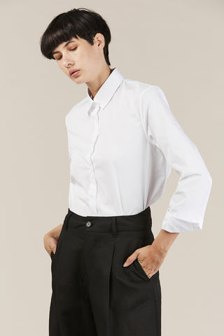 Darcelle Button Down, White