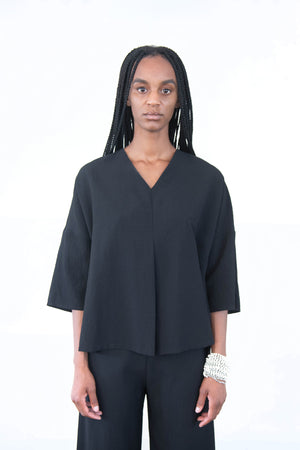 KAAREM - water chestnut top, black