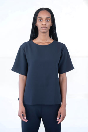 KAAREM - ironwood pocket top, black blue