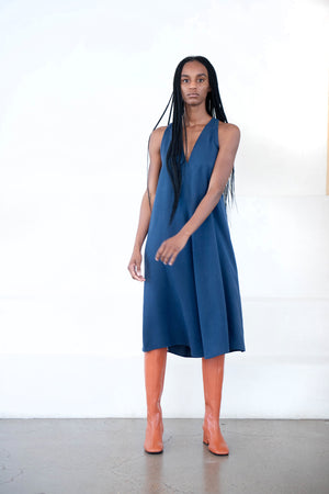 KAAREM - sum a-line dress, dark blue