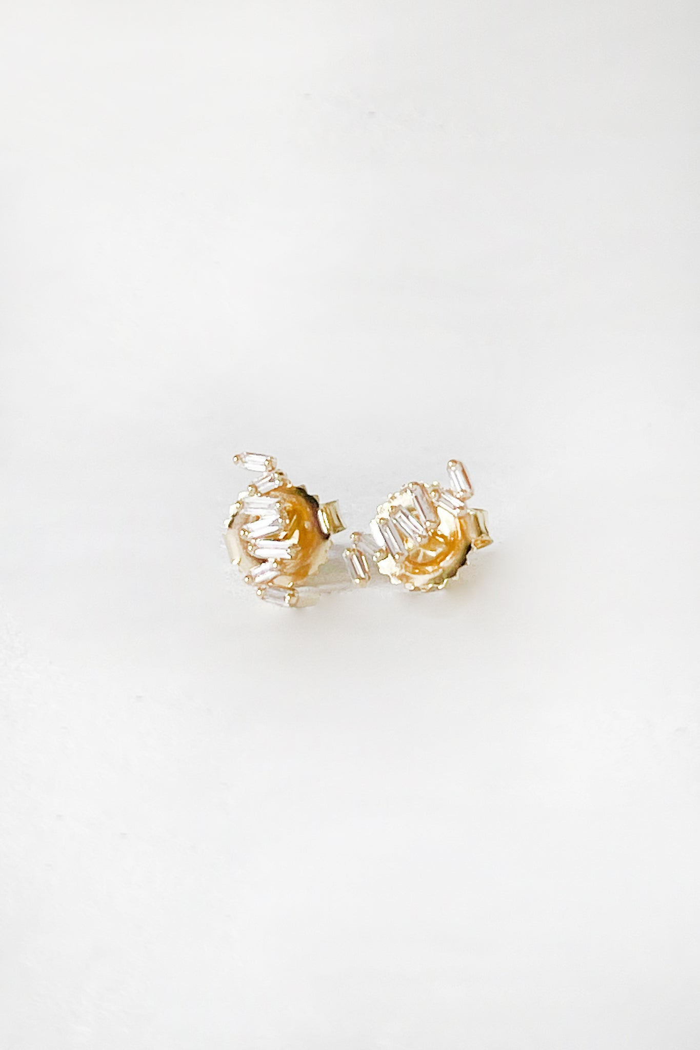 SUZANNE KALAN - fireworks diamond earrings, gold