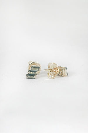 SUZANNE KALAN - green envy earrings, topaz