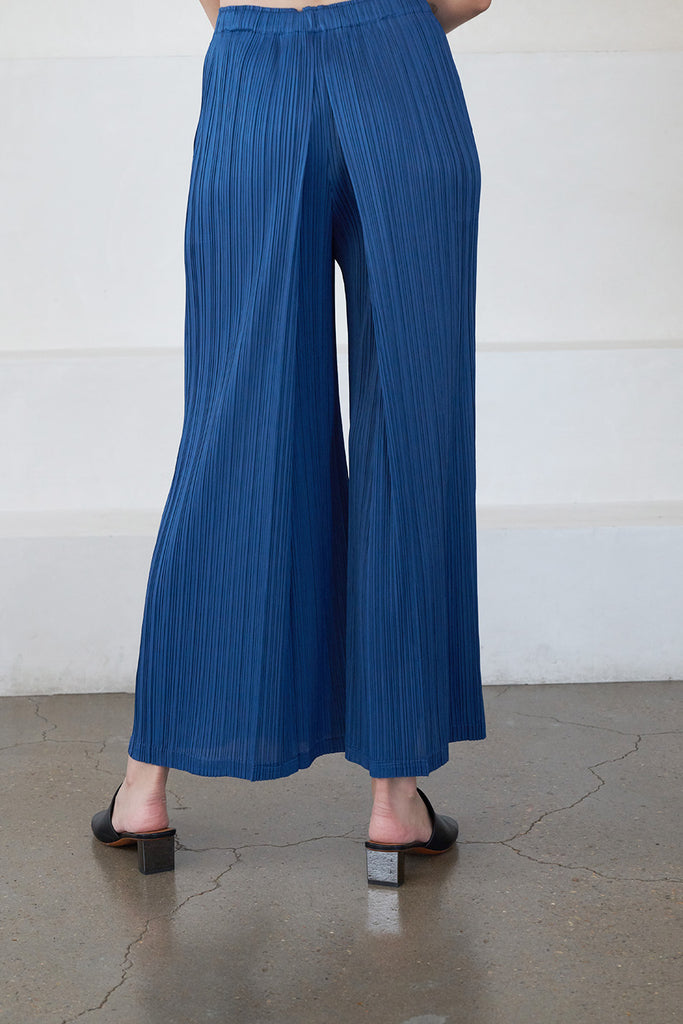 Pleats Please by Issey Miyake - monthly colors pant, Cerulean
