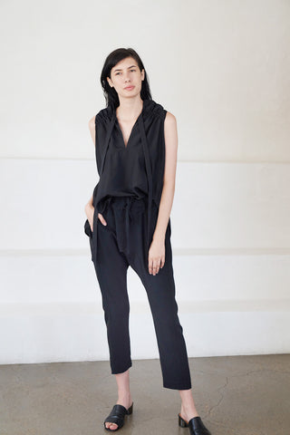 relaxed pant, black
