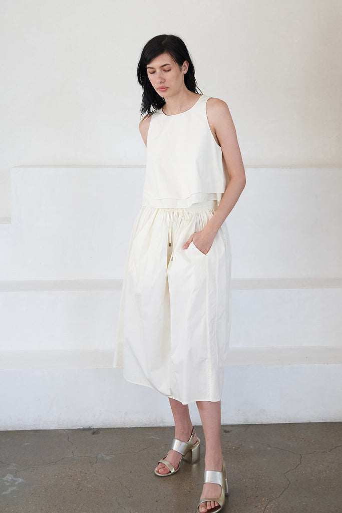 wabi sabi skirt, white