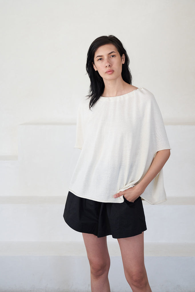Lauren Manoogian - gather top, white