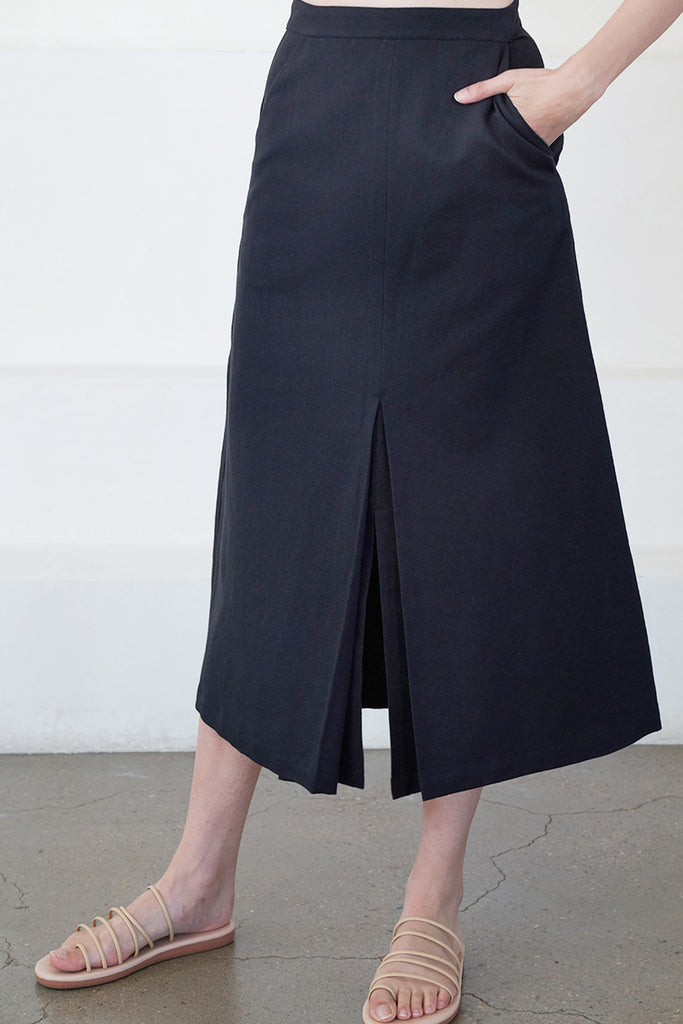 Apiece Apart - karen origami skirt, black