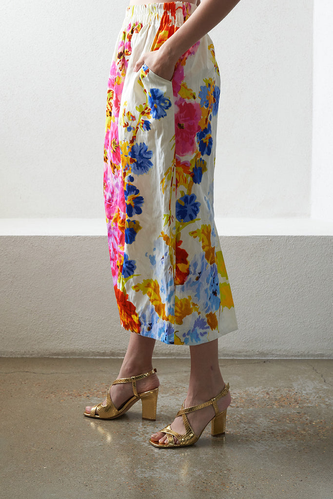 DRIES VAN NOTEN - SOFYA pull on floral skirt