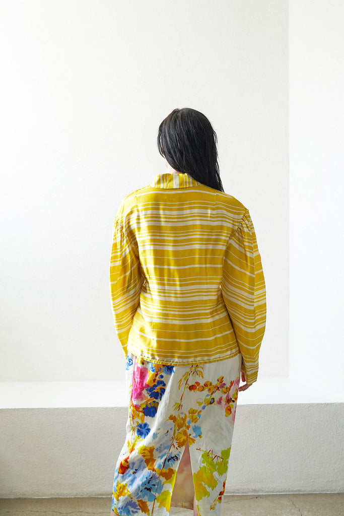 DRIES VAN NOTEN - COTI striped long sleeve top, yellow