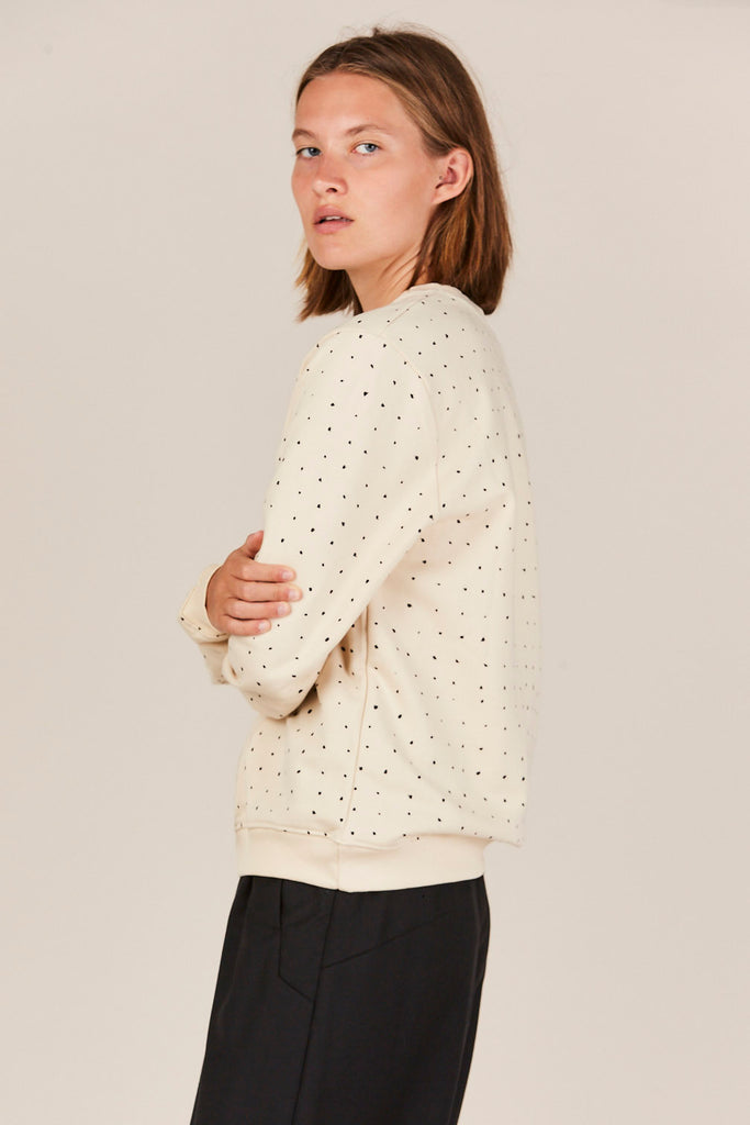Building Block Dot Crewneck Sweater