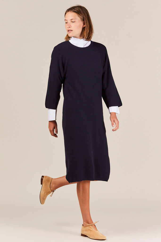Slow Pace Dress, Navy