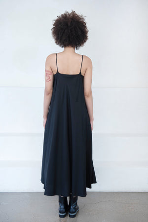 KOW TOW - dawn slip dress, black
