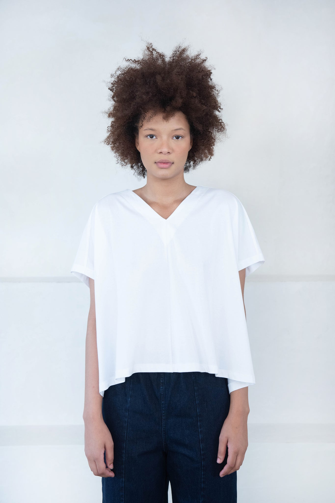 KOW TOW - pleat top, white