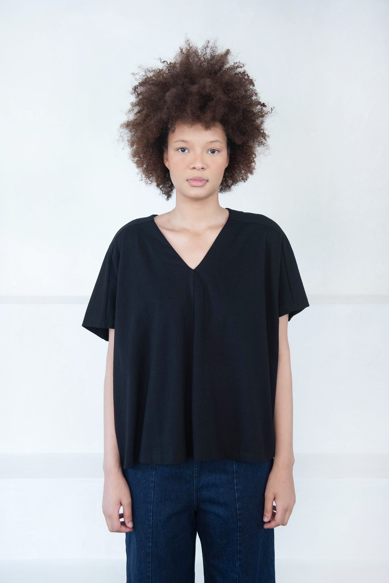 KOW TOW - pleat top, black