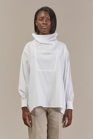Barton Belted L/S Top, White