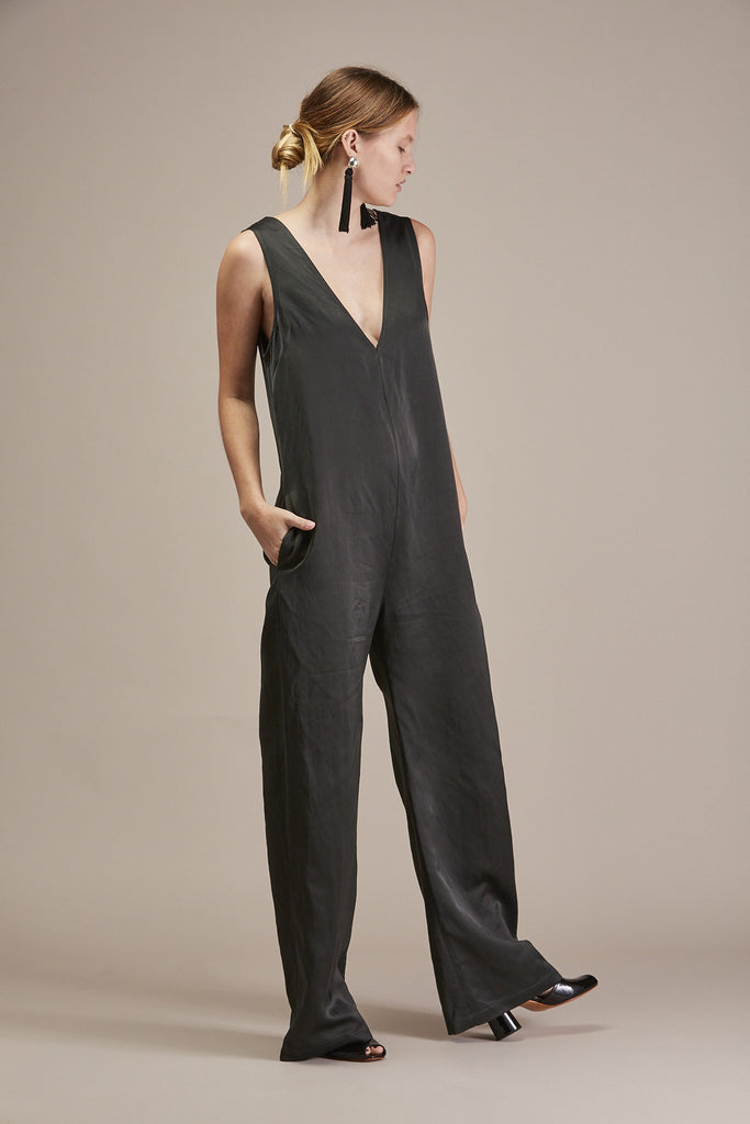 V-Neck Jumpsuit by Nomia