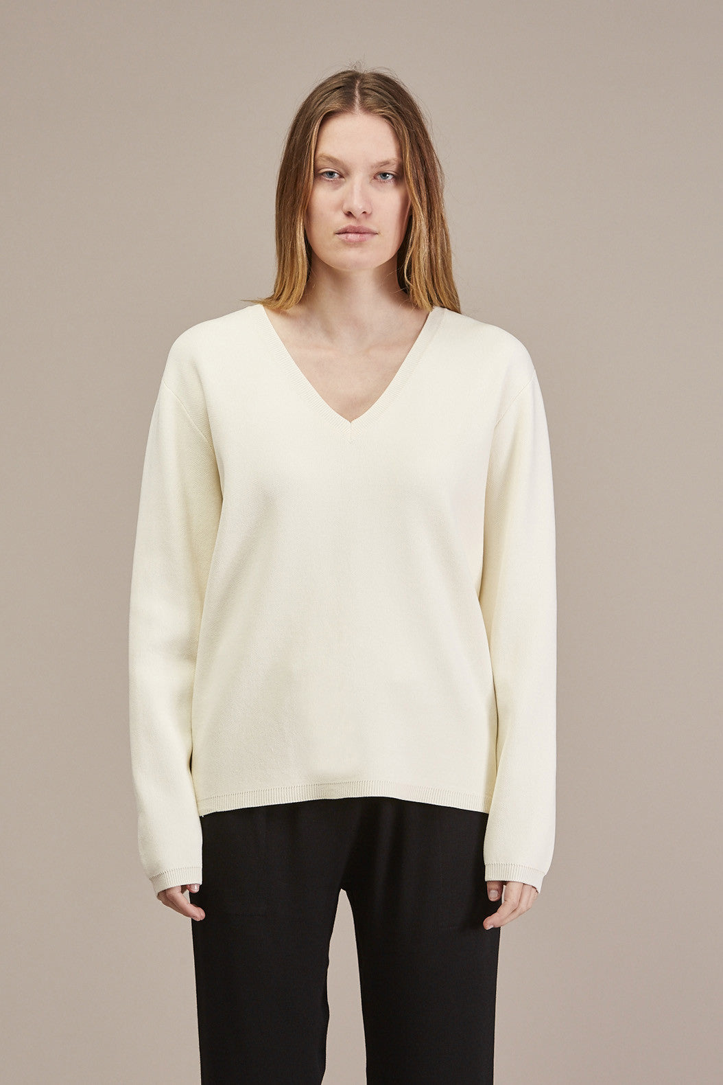 Pernille V-neck Sweater by Won Hundred @ Kick Pleat - 1