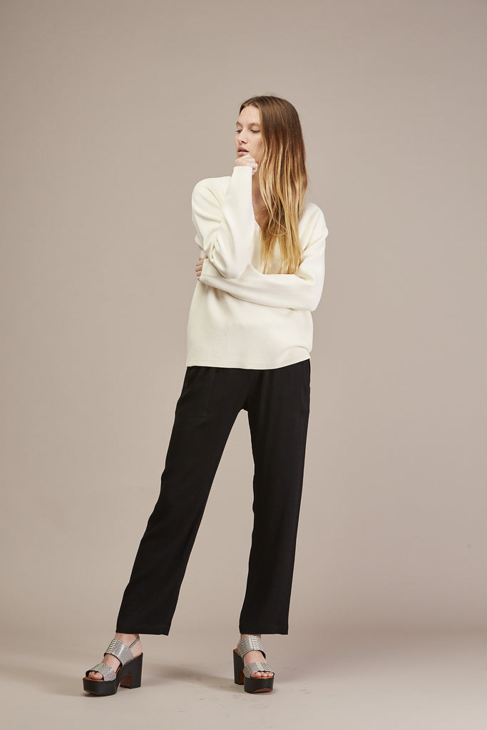 Pernille V-neck Sweater by Won Hundred @ Kick Pleat - 2