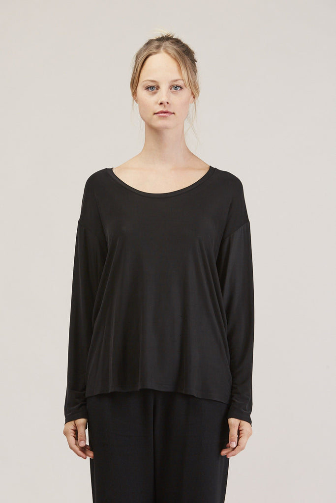 Loose l/s tee, Ink by Shaina Mote @ Kick Pleat - 2