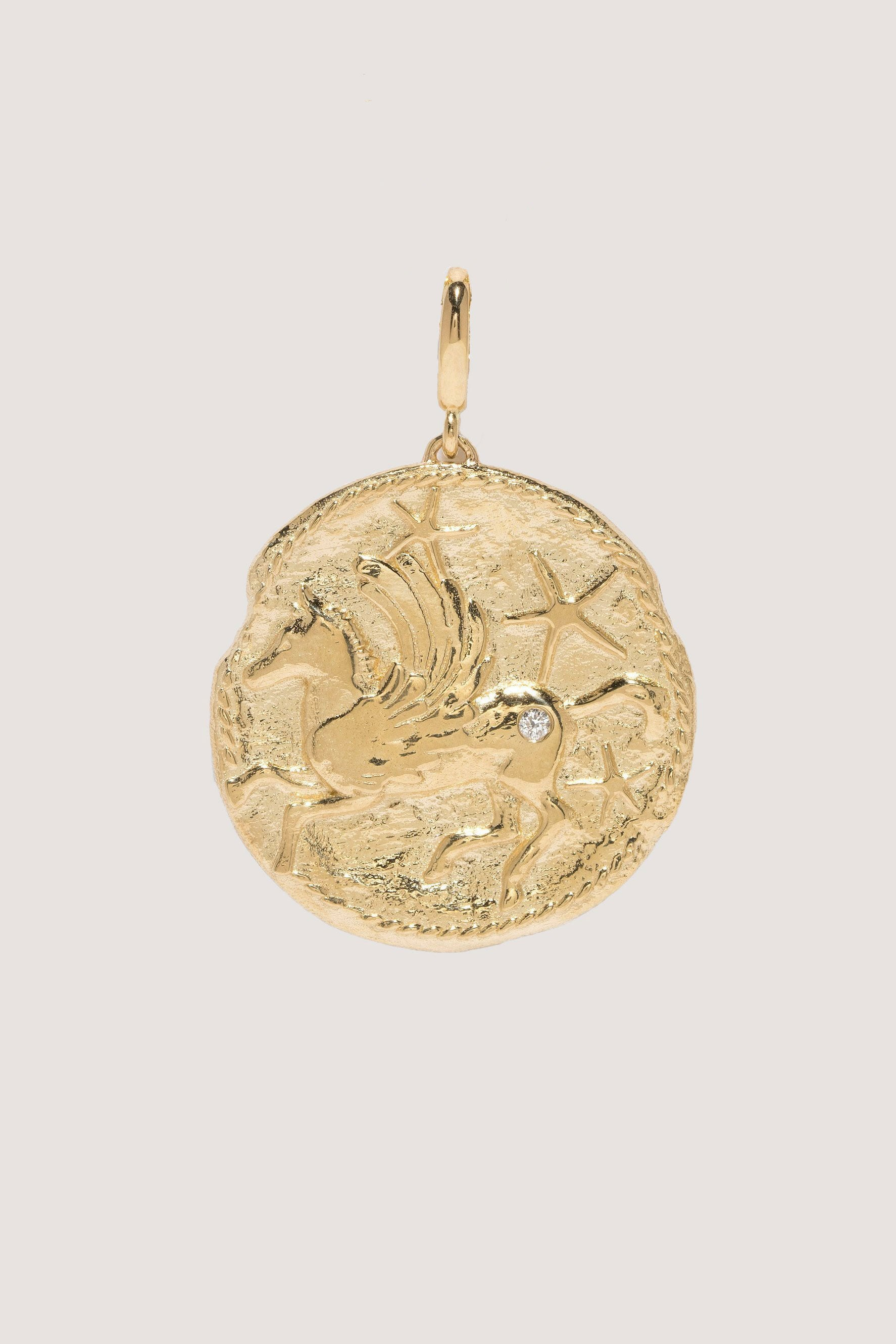 Azlee - Large Pegasus Coin, Gold
