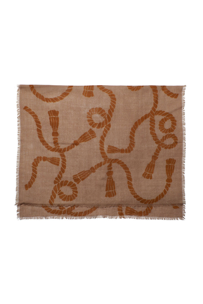 Large Heritage Rope Scarf, Tan