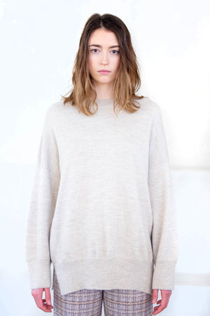 Lauren Manoogian - wide crewneck, hessian