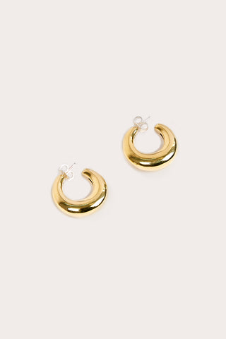 Brass Bubble Hoops