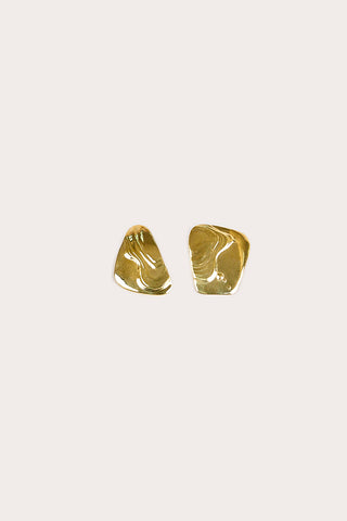 Brass Splatter Earrings