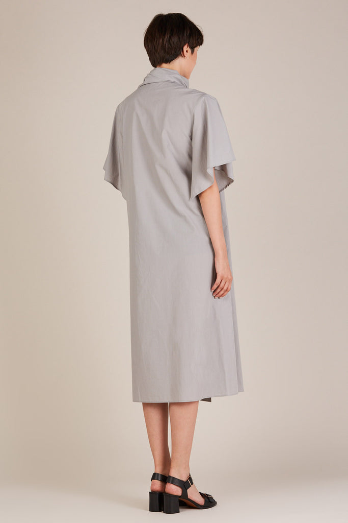 Foulard Dress in Grey by Lemaire