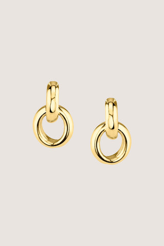 Link Earrings, Gold