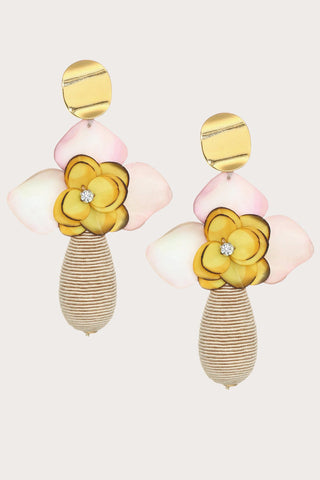 magnolia drop earrings, YELLOW