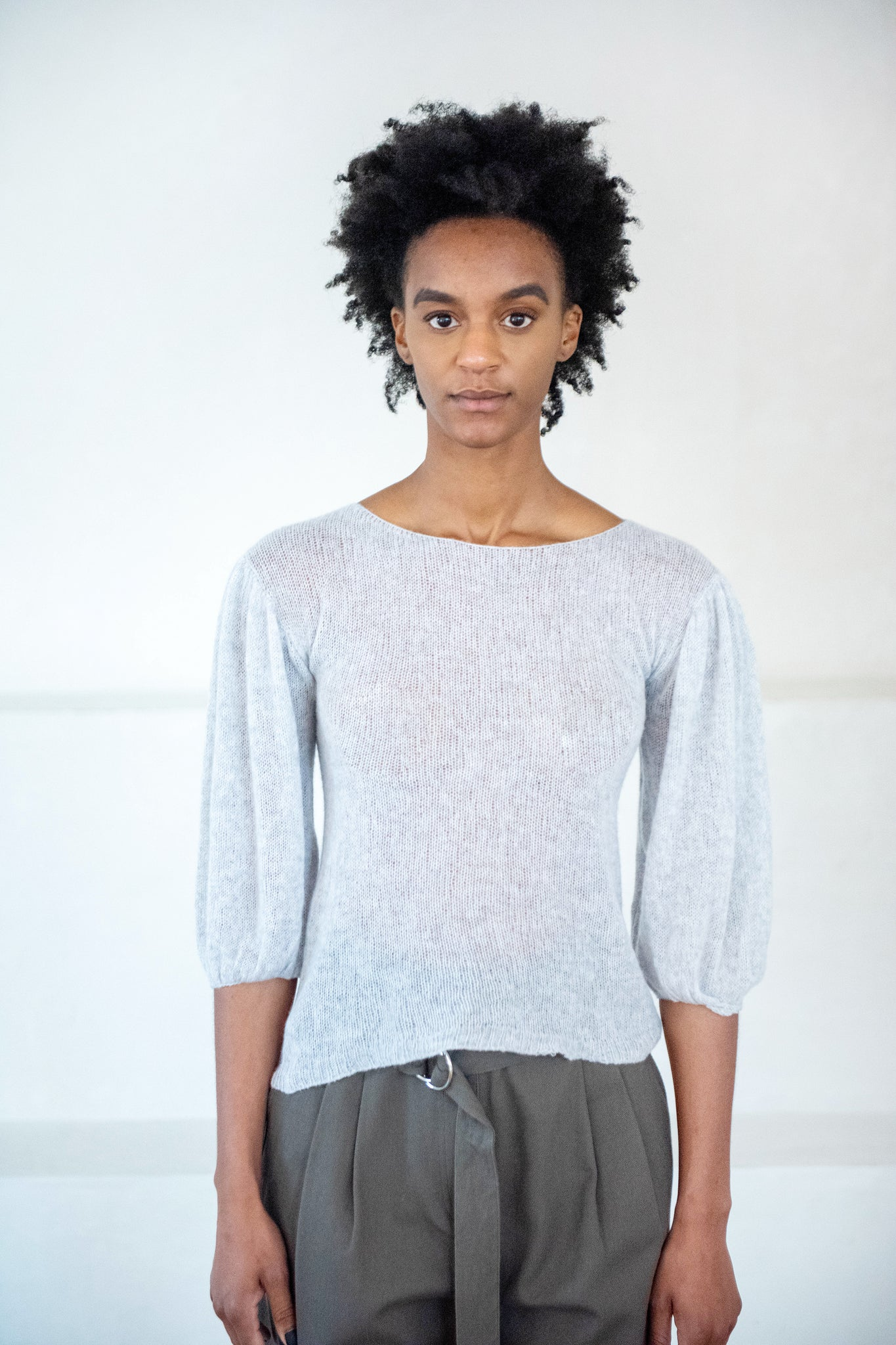 Louiza Babouryan - cashmere sweater, grey