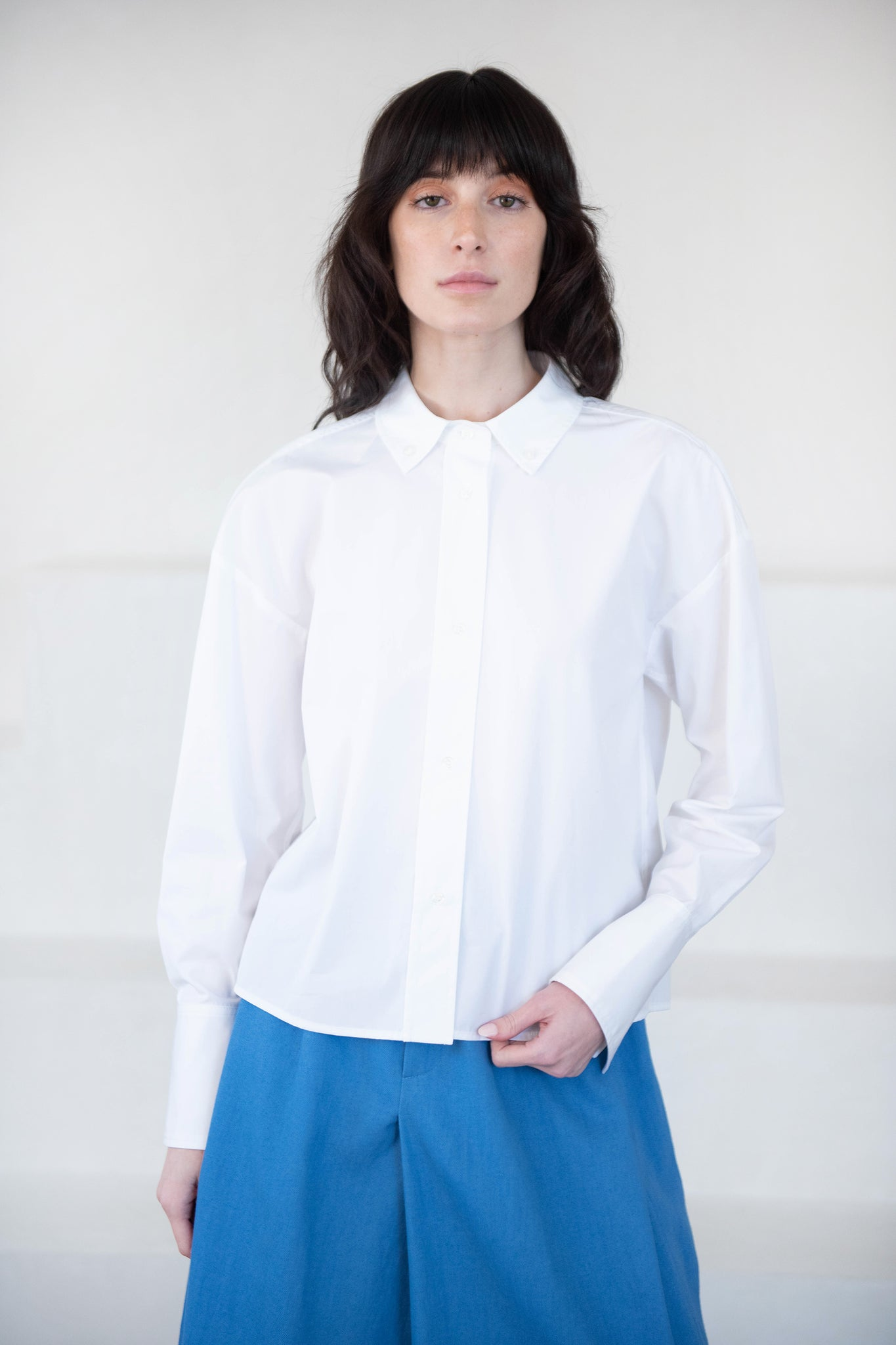 LOULOU STUDIO - PULAU cotton shirt, white