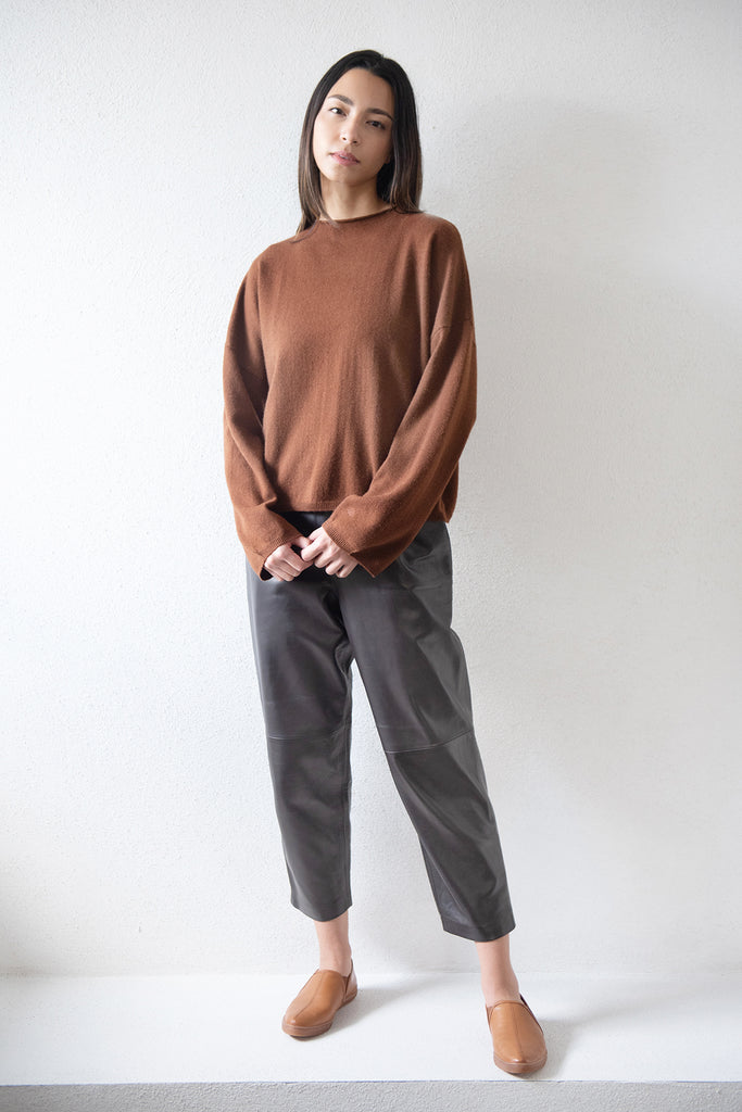 VACCA cashmere sweater, chocolate