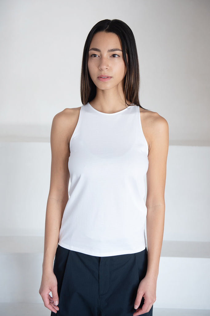 LOULOU STUDIO - MAHINA tank top, white