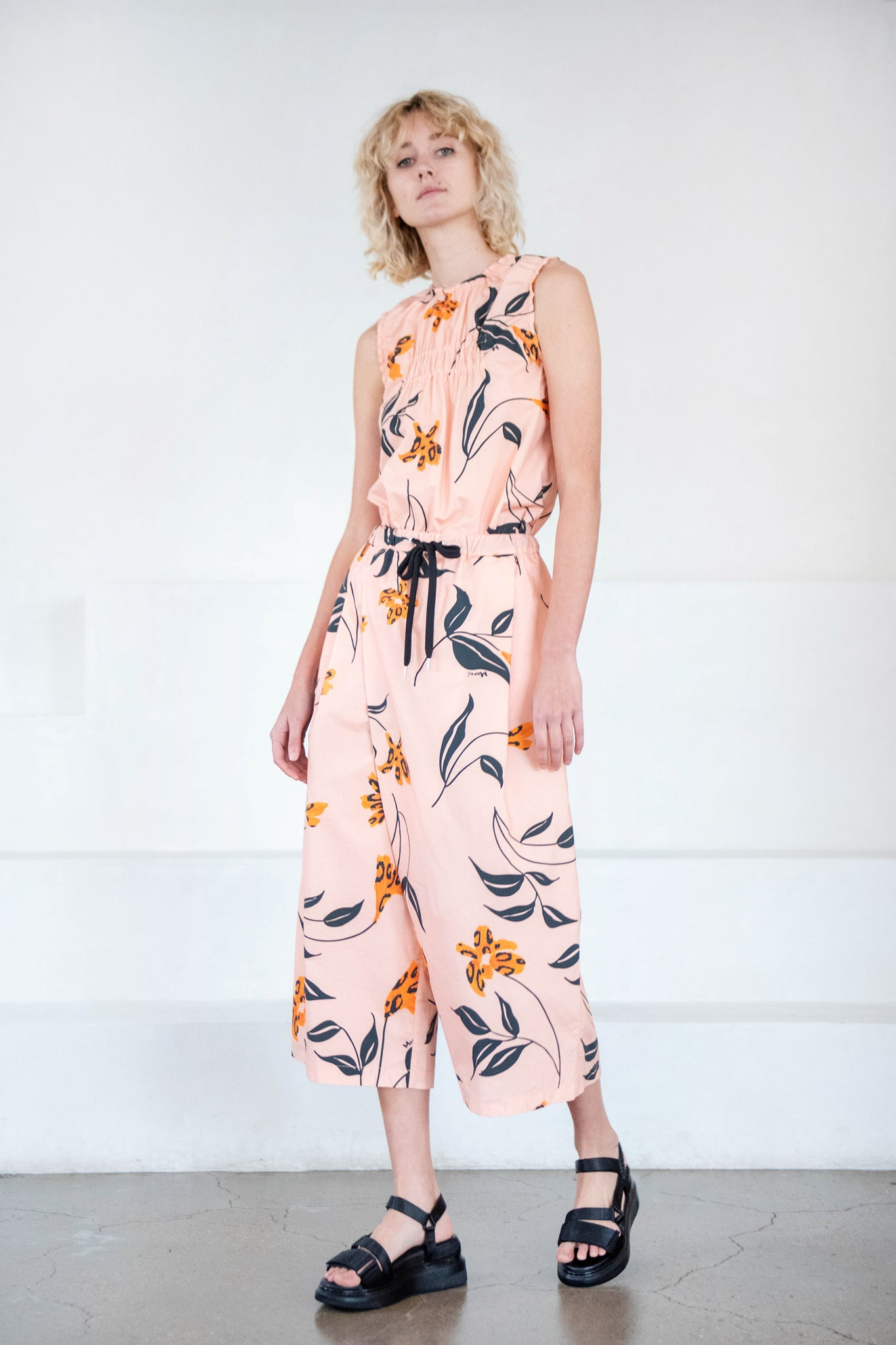 MARNI - floral karate trousers, rose